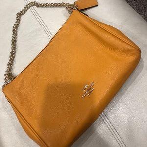 Authentic coach mustard handbag